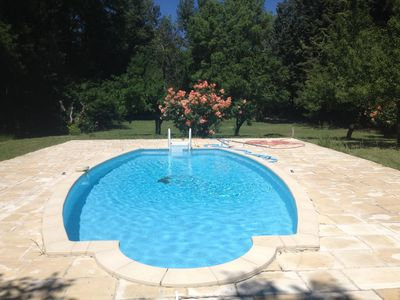 Photo for Holiday house with swimming pool and large wooded grounds in the heart of Provence