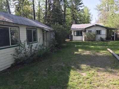 Bunkhouse on the left and cottage on the right