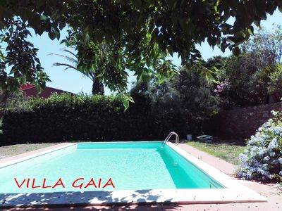 Photo for Villa on several levels, with private garden and swimming pool, sea view
