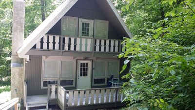 Photo for Beautiful Mountain Chalet located across street from State Forest with Hot Tub