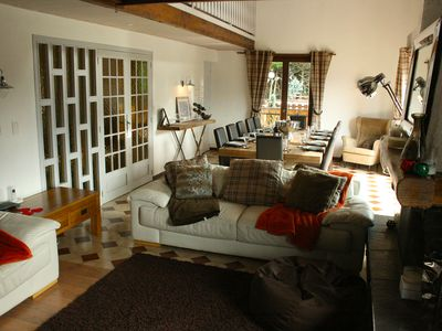 Photo for 5 bedroom Family Chalet with Hot Tub, Open Fire & Ski Slope Views across Morzine