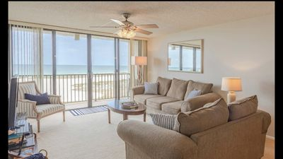 Photo for BEACH FRONT CONDO - very clean,  very cozy, updated and freshly painted