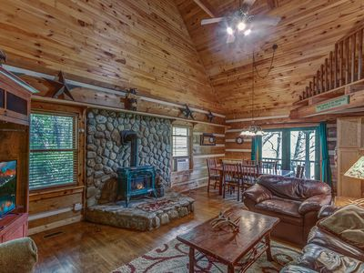 Photo for BOOK THIS WEEKEND DEAL ! Go Fish/Charming Log cabin