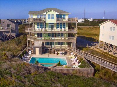 Photo for Oceanfront Retreat, Buxton- Elevator, Pool, Hot Tub, Game Rm, Boardwalk to Beach