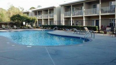 Photo for Beautiful Furnished In the Courtyard, Right Beside The Pool On First Floor