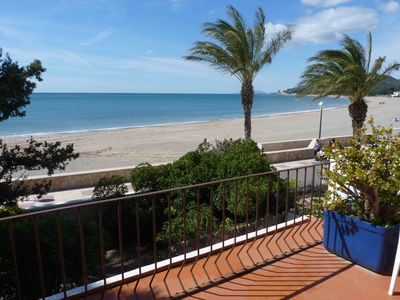 Photo for Charming villa  with sunny terraces on the beach