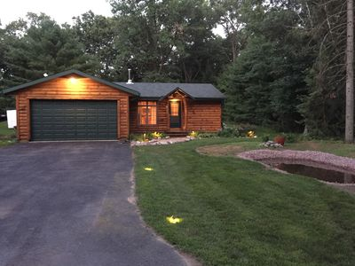 Photo for Wisconsin Cabin getaway near 2 lakes - and with the amenities of home