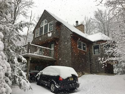 Photo for Hunter Mtn Ski Chalet, at Base of Hunter Mtn, Walk to Slopes! 5 Star Property