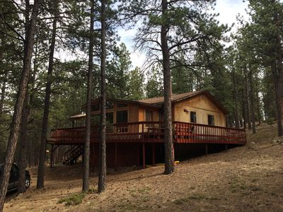 Photo for Wooded 5 Acre Peaceful Mountain Cabin Retreat