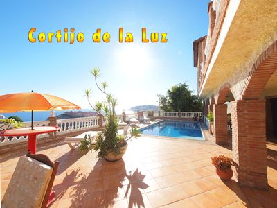 Photo for Cortijo de la Luz *** private pool *** close to the beach *** splendid sea views