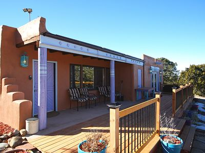 Photo for Privacy 15 Min to Plaza Among Fragrant Pinons On 3 Acres-2800 Sq Ft