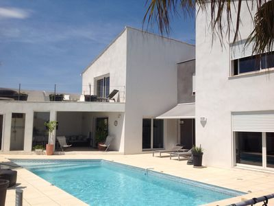 Photo for Magnificent architect designed villa for a quiet holiday near the sea ...