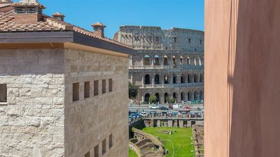 Photo for Colosseo View Luxury 2208 apartment in Centro Storico with air conditioning & balcony.