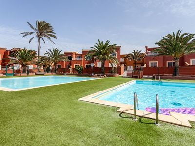 Photo for Holiday Home Casa Sur Near the Beach with Wi-Fi, Terrace & Community Pools; 2 Parking Spaces Available