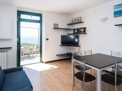 Photo for Three-room apartment ULIVI 3 with sea view terrace