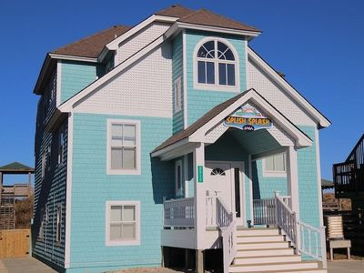 Photo for Oceanfront, Splash Pad, Hot Tub, Pet Friendly, and Beach Cabana Service!