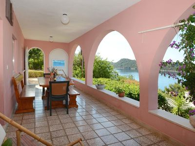 Photo for Two bedroom apartment with terrace and sea view Karbuni (Korčula)