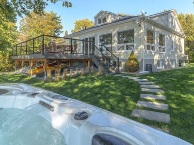 Photo for Amazing cottage on Champlain lake with outdoor JACUZZI