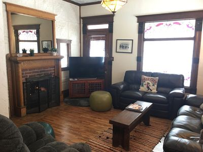Newly Remodeled Living Room with New Hardwood Floors & Furniture (2018)