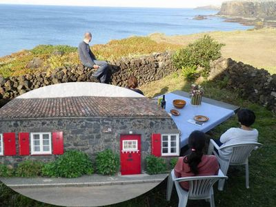 Photo for Stone Cottage on Cliffs over the Sea