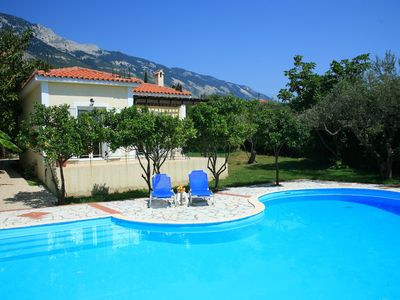 Photo for Villa Russa Dionisis: Large Private Pool, Walk to Beach, Sea Views, WiFi, Car Not Required