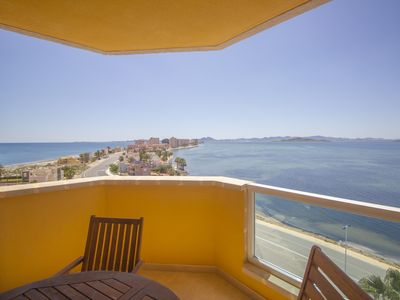 Photo for South facing, modern apartment with views to both seas!!