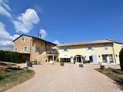 Photo for 19th century Burgundian wine farm with private heated pool
