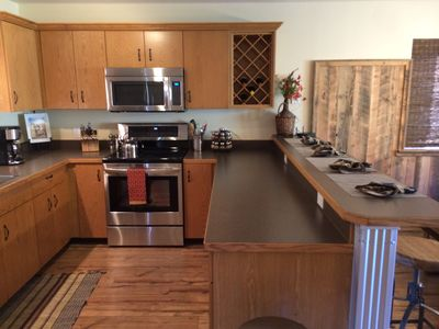 All new appliances. Breakfast bar with four stools! Plenty of counter space!