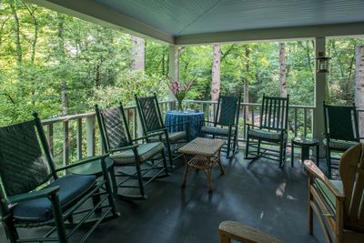 Corner of the porch, perfect for gathering with friends and family or reading.