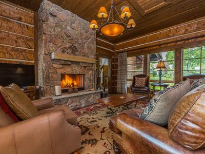 Photo for Spanish Peaks luxury cabin with a private hot tub, fire pit and spectacular views