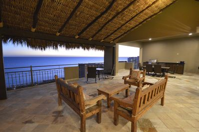 Relax on the patio under the Palapa.