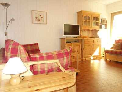 Photo for Comfortable 3* studio for 2 people, located at the bottom of the ski slopes. Bright living room with
