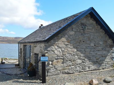 Photo for Pier cottage at Kames, shore front location, sleeps 4, value for money