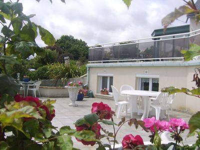 Photo for appart beautiful sea view, flowered terrace 3km from Brehat Island with spa