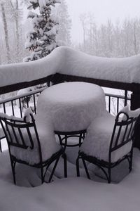 Let it SNOW!!!!!!  View of deck.