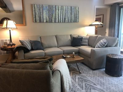 Photo for Comfy, Cozy with New Furnishings! Super close to the village center.
