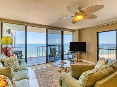 Photo for Gulf views from your private balcony - condo complex with pool & beach access!