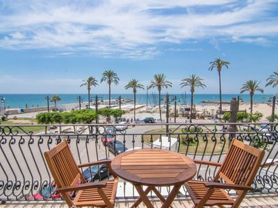 Photo for RIBERA PETIT Small apartment with superb sea views in Sitges.