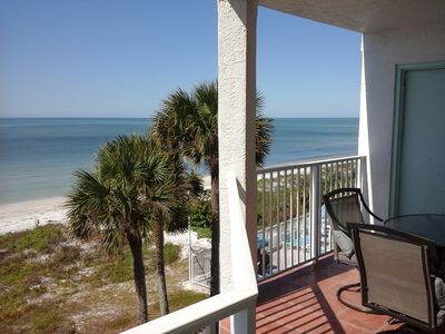 Gulf balcony with stairwell to pool and beach. Great alternate to elevator.