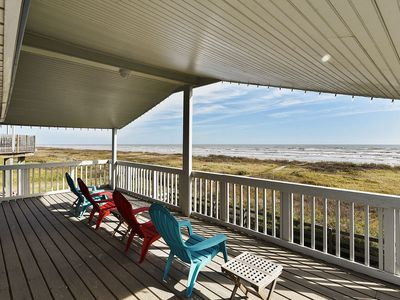 Photo for Beachfront Charm in Sea Isle offers amazing views & easy beach access!