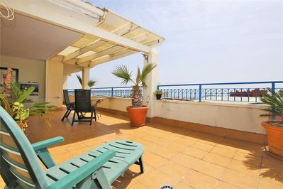 Large and sunny terrace in this lovely apartment
