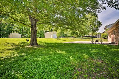 With ample private backyard space, this house provides plenty of space for the k