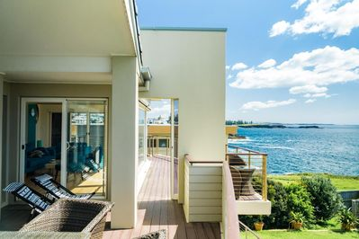 Slap-bang on a cliff, Kiama's Dream-Catcher has unrivalled views of the ocean.