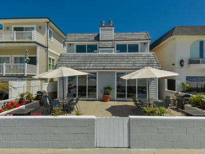 Photo for Oceanfront South Mission Beach Vacation Rental on the Sand 2737