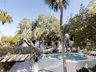 Photo for Bright, Airy and Open - 1 minute walk to beach - Great Deck to Grill and Chill overlooking the pool