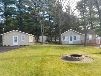 2 bedroom cabin is on the left
