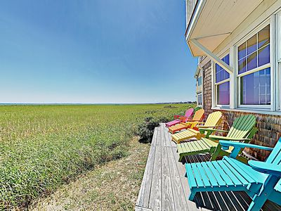 Photo for New Listing! Immaculate Beachfront Retreat w/ Chef's Kitchen & Firepit