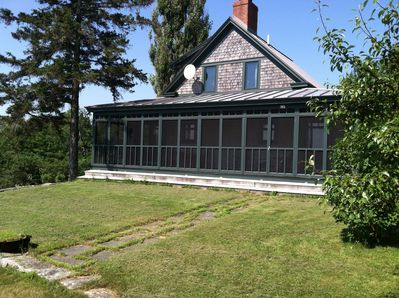 The cottage with full front screen porch