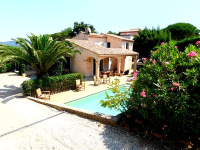 Photo for Sainte Maxime: Villa with pool and large garden, trees, calm, near sea