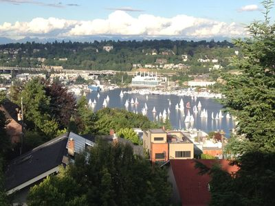 Photo for Amazing view!  Easy access to Downtown, Seattle Center, Amazon and more.